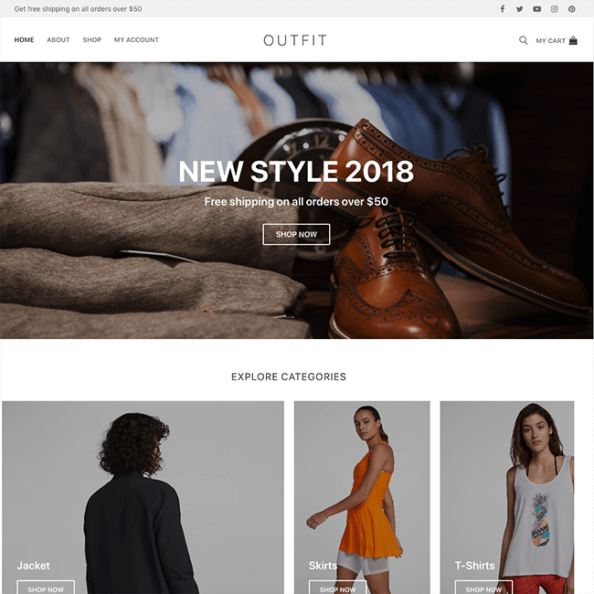 Outfit Site Demo